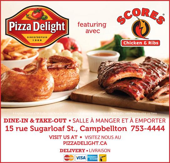 Pizza Delight (506-753-4444) - Annonce illustrée======= -