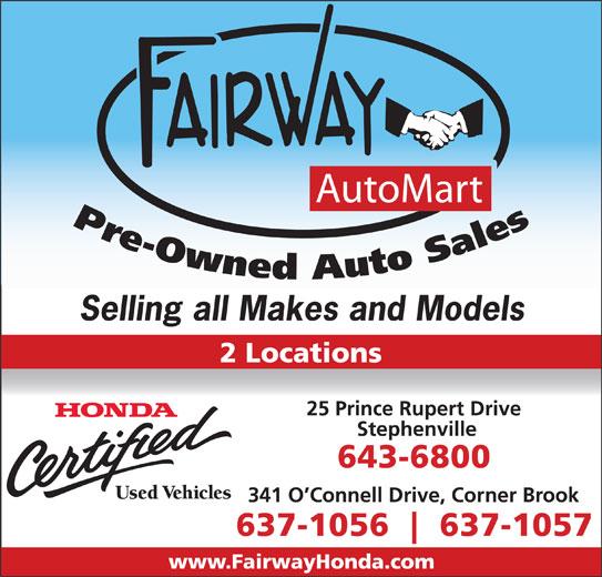 Fairway AutoMart (709-643-6800) - Annonce illustrée======= - Selling all Makes and Models Selling all Makes and Models