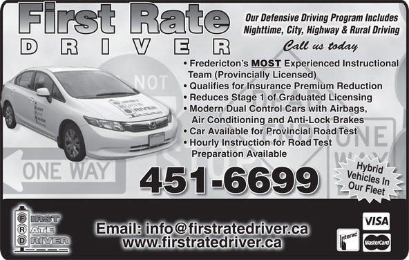 Ads First Rate Driver Instruction