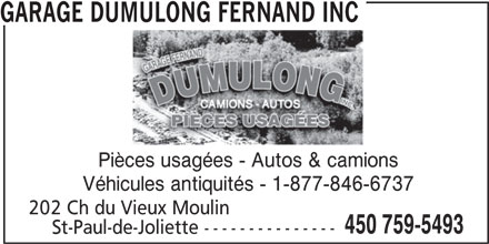 Garage dumulong fernand inc saint paul qc 202 ch du for Garage ad saint thurial