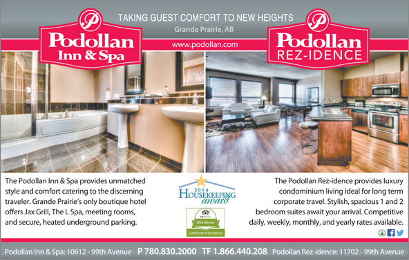 Podollan Inn & Spa (780-830-2000) - Display Ad -
