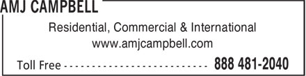 AMJ Campbell Van Lines (1-888-481-2040) - Display Ad - Residential, Commercial & International www.amjcampbell.com