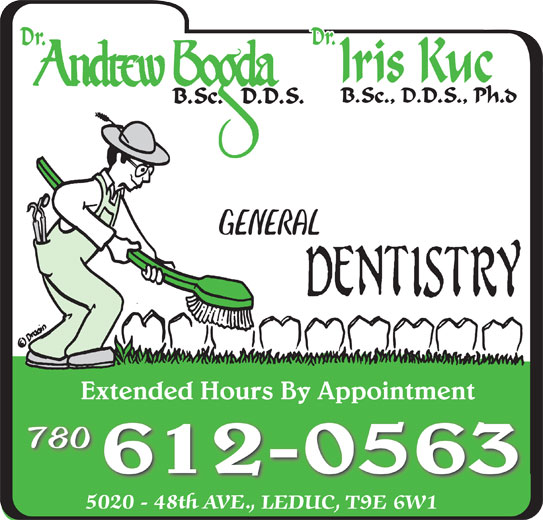 Bogda Andrew Dr (780-986-1323) - Display Ad - Extended Hours By AppointmentExtended Hours By Appointment 780 612-0563 GENERAL