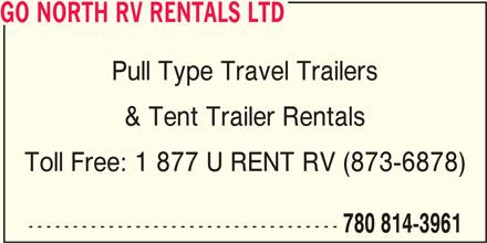 Ads Go North RV Rentals Ltd