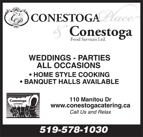 Conestoga Foods (519-578-1030) - Display Ad - 519-578-1030