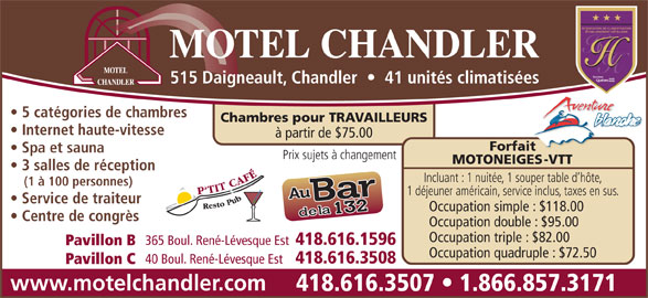 motel chandler 515 av daigneault chandler qc. Black Bedroom Furniture Sets. Home Design Ideas