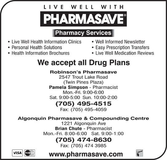 Pharmasave (705-474-8630) - Display Ad -