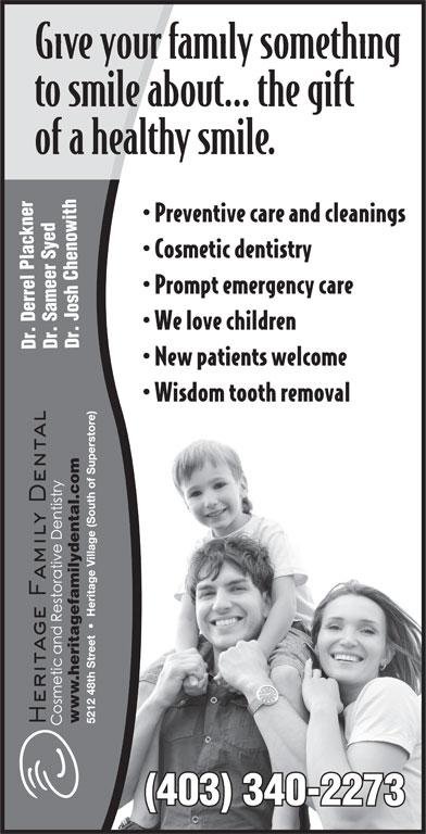 Heritage Family Dental (403-340-2273) - Display Ad - .heritagefamilydental.com ww (403) 340-2273