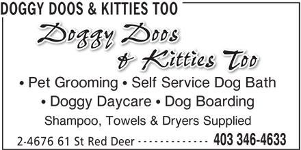 Doggy Doos & Kitties Too (403-346-4633) - Display Ad -