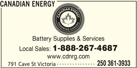 Canadian Energy (250-361-3933) - Display Ad -