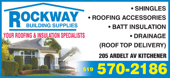 Rockway Building Supplies (519-570-2186) - Display Ad -