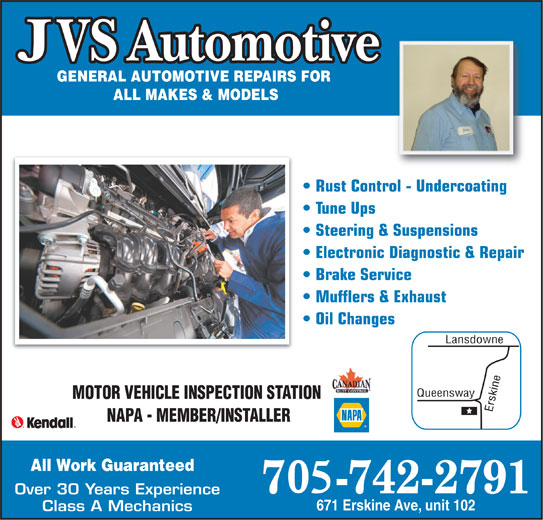 JVS Automotive (705-742-2791) - Display Ad -