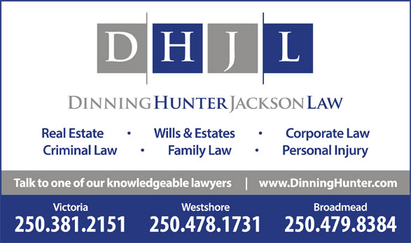 Dinning Hunter Jackson Law (250-381-2151) - Display Ad -