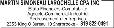 Martin Simoneau Larochelle CPA Inc (819-822-0491) - Annonce illustrée======= -