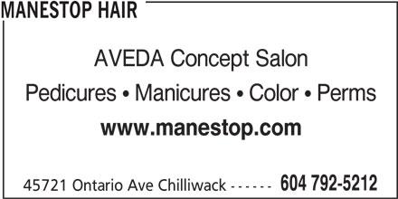 Manestop Hair (604-792-5212) - Display Ad -
