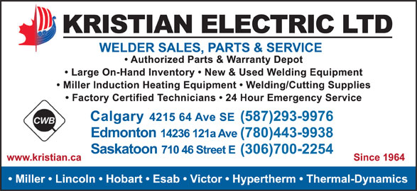 Kristian Electric Ltd (403-292-9111) - Display Ad -