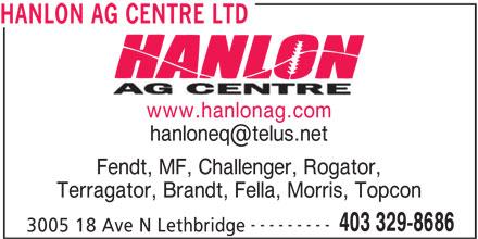 Ads Hanlon Ag Centre Ltd