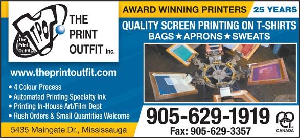 The Print Outfit Inc (905-629-1919) - Annonce illustrée======= -