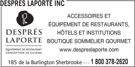Despr s laporte inc 185 rue de la burlington for Equipement de cuisine sherbrooke