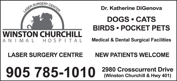 Winston Churchill Animal Hospital (905-785-1010) - Display Ad -