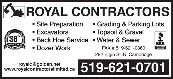 Royal Contractors Limited (519-621-0701) - Annonce illustrée======= -