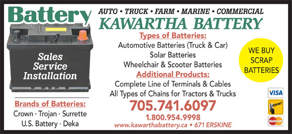 Honda Generators For Sale Near Me >> Kawartha Battery Sales And Service - 671 Erskine Ave, Peterborough, ON