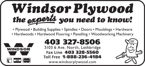 Windsor Plywood (403-327-8506) - Display Ad -