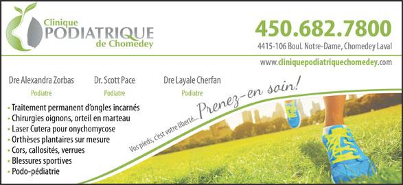 Clinique Podiatrique Chomedey (450-682-7800) - Annonce illustrée======= -