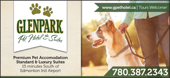 Glenpark Pet Hotel & Suites (780-387-2343) - Display Ad -