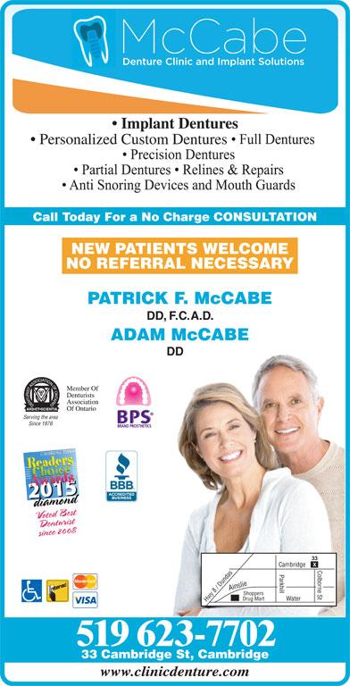 Mccabe Denture Clinic Amp Implant Solutions 33 Cambridge