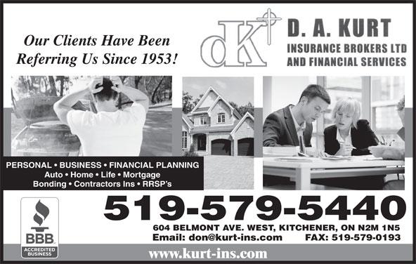 Ads D A Kurt Insurance Broker Ltd