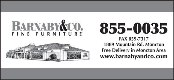 Barnaby & Co Ltd (506-855-0035) - Annonce illustrée======= -