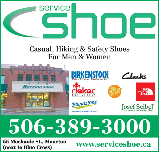 Service Shoe Repair & Boot Shop Ltd (506-389-3000) - Annonce illustrée======= -