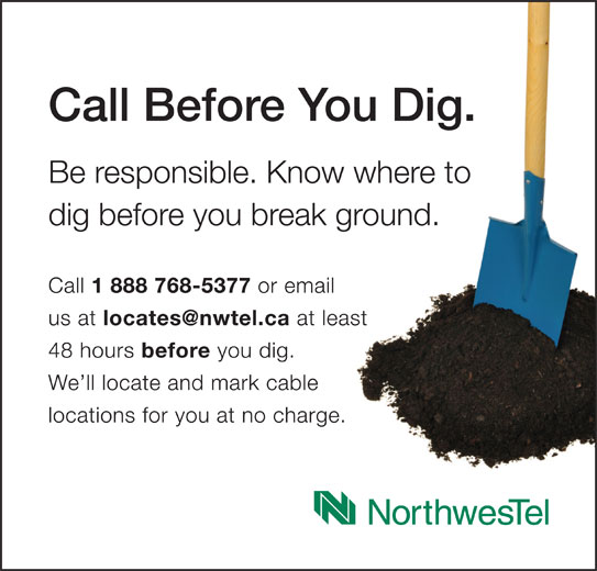 Call Before You Dig - Annonce illustrée======= -