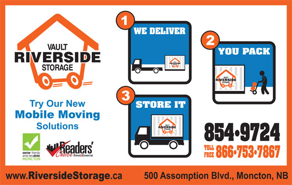 Riverside Storage (506-854-9724) - Display Ad -