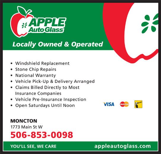 Apple Auto Glass (506-853-0098) - Display Ad -