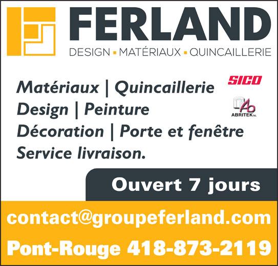 BMR (418-873-2119) - Display Ad - Matériaux Quincaillerie Design Peinture ABRITEK inc. Décoration Porte et fenêtre Service livraison. Ouvert 7 jours Pont-Rouge 418-873-2119 Matériaux Quincaillerie Design Peinture ABRITEK inc. Décoration Porte et fenêtre Service livraison. Ouvert 7 jours Pont-Rouge 418-873-2119