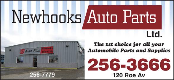 Newhooks Auto Parts (1977) Ltd (709-256-7779) - Display Ad - 256-3666 256-7779 120 Roe Av Ltd.