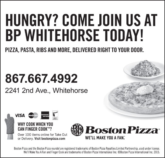 Boston Pizza (867-667-4992) - Display Ad -