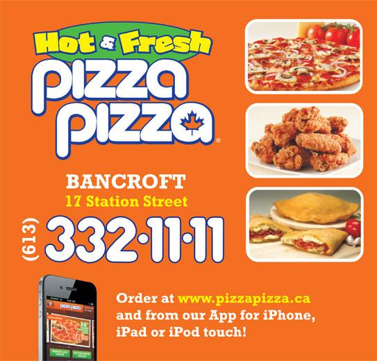Pizza Pizza (613-332-1111) - Annonce illustrée======= -