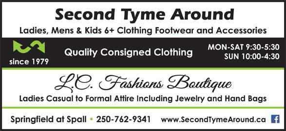 Second Tyme Around (250-762-9341) - Display Ad -