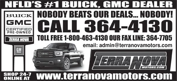 Terra Nova Motors Ltd (709-364-4130) - Display Ad -