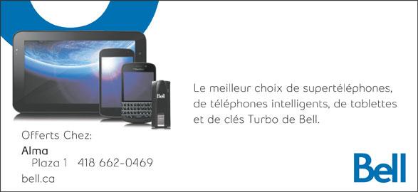 Bell (418-662-0469) - Annonce illustrée======= -
