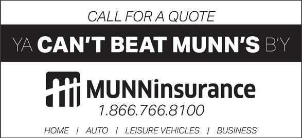 Munn Insurance (709-466-8100) - Display Ad -