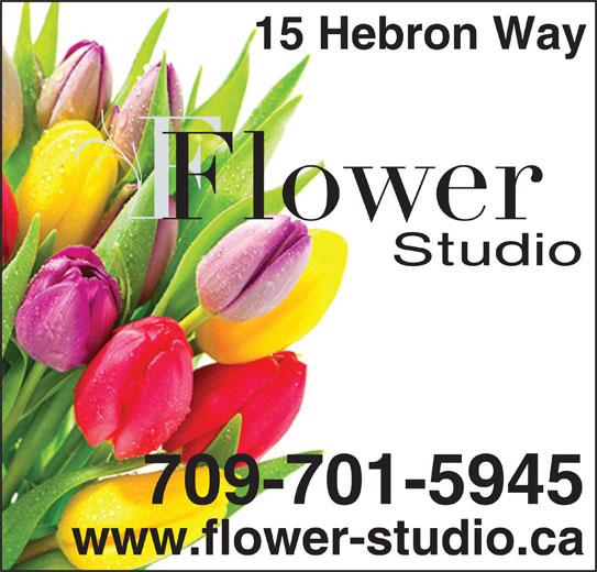Flower Studio (709-754-4454) - Display Ad - 709-701-5945 15 Hebron Way www.flower-studio.ca