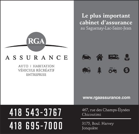 Riverin Girard & Associés Assurance (418-543-3767) - Annonce illustrée======= - www.rgaassurance.com