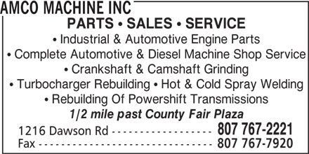 Ads Amco Machine Inc