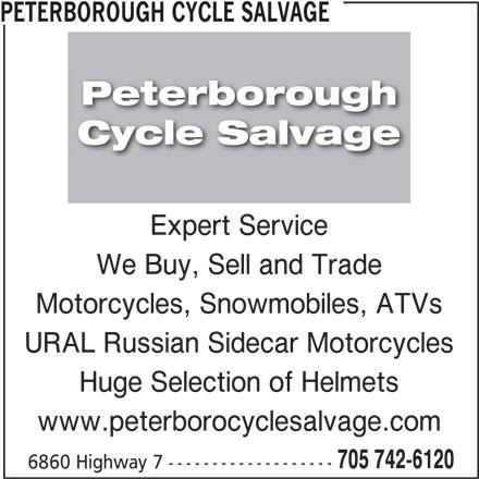 Peterborough Cycle Salvage (705-742-6120) - Display Ad -