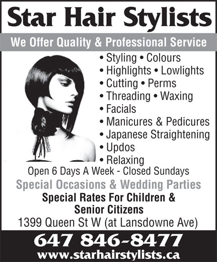 Star Hair Stylists 1399 Queen St W Toronto On