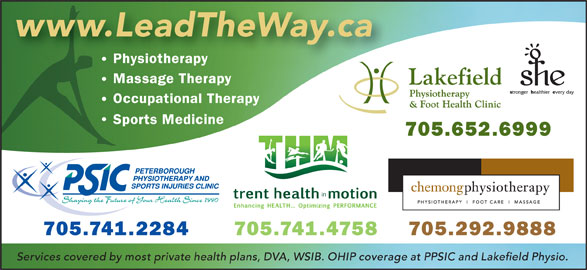 Peterborough Physiotherapy & Sports Injuries Clinic (705-741-2284) - Display Ad -